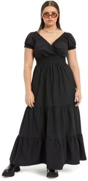 Danielle Bernstein Plus Size Poplin Midi Dress, Created for Macy's