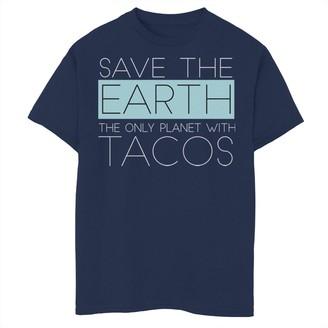 Fifth Sun Boys 8-20 Save Earth Tacos Graphic Tee