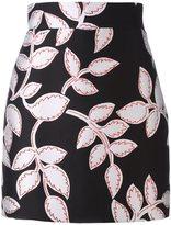 MSGM metallic floral pattern skirt