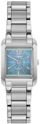 Citizen Eco-Drive Women Bianca Stainless Steel Bracelet Watch 22mm