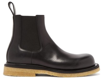 Bottega Veneta Crepe-sole Leather Chelsea Boots - Black
