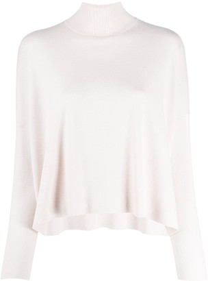 Allude Mock-Neck Loose Sweater