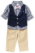 Starting Out Baby Boys 3-24 Months Gingham-Print Shirt, Bow Tie, & Pants 3-Piece Set