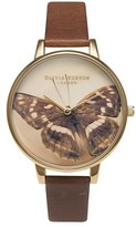 Olivia Burton Women's 'Woodland Butterfly' Leather Strap Watch, 38Mm