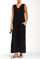Joan Vass V-Neck Maxi Dress