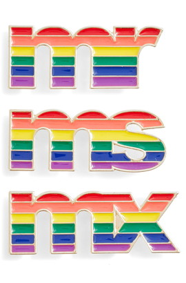 BP Be Proud by 3-Pack Gender Inclusive Title Accessory Pins