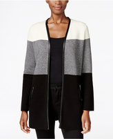 Charter Club Colorblocked Open-Front Cardigan, Only at Macy's