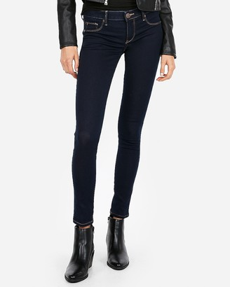Express Low Rise Contrast Stitch Skinny Jeans
