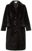 Stand Studio Theresa Single-breasted Faux-fur Coat - Womens - Black