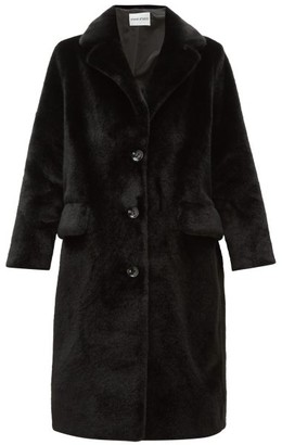Theresa Stand Studio Single-breasted Faux-fur Coat - Womens - Black