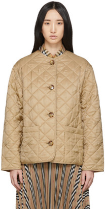 Burberry Beige Quilted Bardsey Jacket