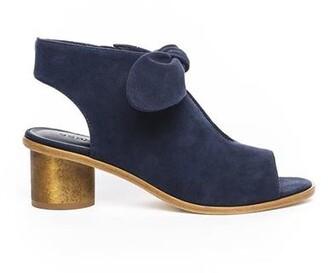Bernardo Luna Wood Heel Sandal Navy