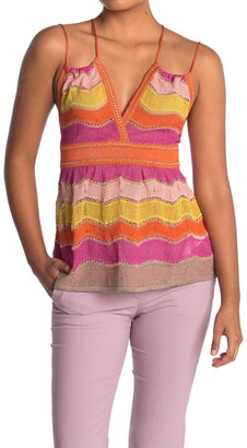 M Missoni Strappy Patterned Tank Top