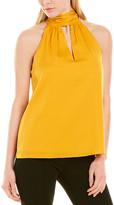 Milly Emma Tie Neck Silk-Blend Top