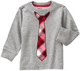 Gymboree Granite Heather Plaid-Tie Jersey Tee - Infant & Toddler