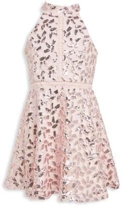 Bardot Junior Girl's Gemma Sequin Halter Dress
