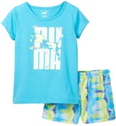 Puma Graphic Top & Short Set (Toddler Girls)