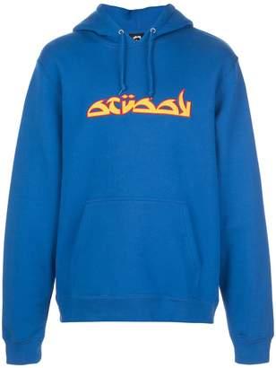 Stussy contrast logo hoodie