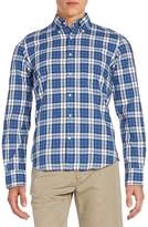 Gant Men's Regular-Fit Plaid Cotton Sportshirt