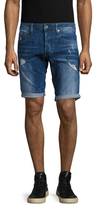 G Star 3301 Straight Distressed Shorts