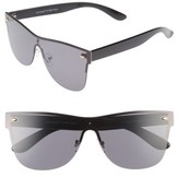 A. J. Morgan Women's A.j. Morgan Future 65Mm Sunglasses - Black/ Mirror