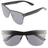 A. J. Morgan Women's A.j. Morgan Future 65Mm Sunglasses - Black/ Mirror