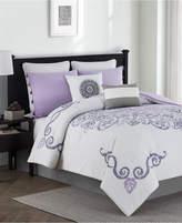 Jessica Sanders Huntley Reversible 8-Pc. Queen Comforter Set Bedding