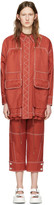 Stella McCartney Red Four Pockets Coat