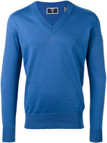 Rossignol logo sleeve V-neck jumper - men - Cotton - 48