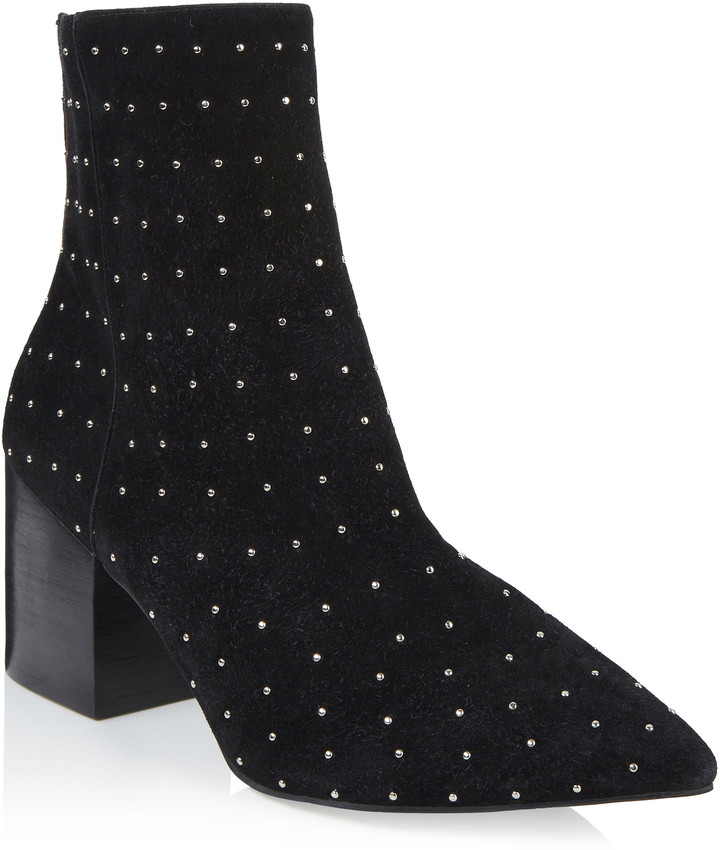 db2130d1b9b Long Tall Sally LTS Sorley Stud Suede Ankle Boot