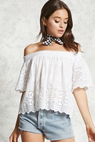 Forever 21 FOREVER 21+ Crochet Off-the-Shoulder Top