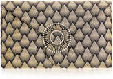 Wilbur & Gussie Edith Gold Corazza Large Envelope Clutch Bag