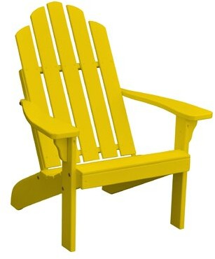 Adirondack Rivale Wood Chair Highland Dunes Color: Canary Yellow