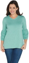 Halston H By H by V-neck Bell Sleeve Sweater Tunic