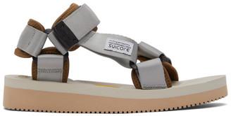 Suicoke Grey and Beige DEPA-V2 Sandals