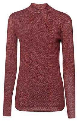 Dorothy Perkins Womens Tall Red Floral Print Mesh Top, Red