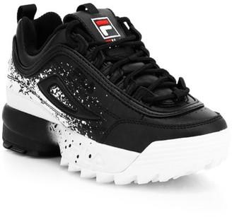 Fila Kid's Disruptor Splatter Print Sneakers