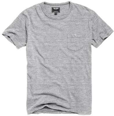 Todd Snyder Classic Button Pocket T-Shirt in Antique Heather Grey
