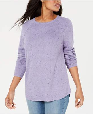 Karen Scott Curved-Hem Sweater