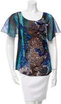 Alberta Ferretti Printed Embellished Top