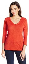 Pendleton Women's 3/4 Sleeve V-Neck Tee