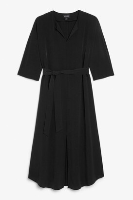 Monki Belted midi dress