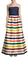Carolina Herrera Strapless Striped Gown