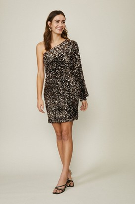 Coast Sequin One Shoulder Dress