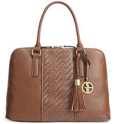 Giani Bernini Pebble Weave Dome Satchel, Only at Macy's