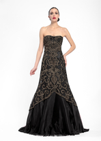 Sue Wong N5360 Sweetheart Flutter Trumpet Gown