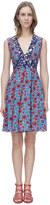 Rebecca Taylor Sleeveless Lindsay Floral V-Neck Dress