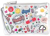 Anya Hindmarch stickers zipped clutch - women - Goat Skin/Leather - One Size