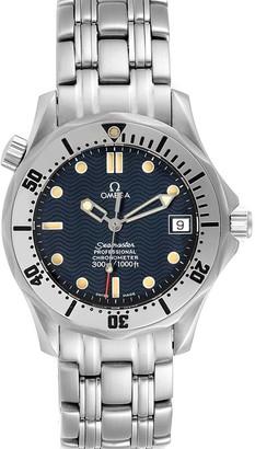 Omega Blue Stainless Steel Seamaster 2552.80.00 Men's Wristwatch 36 MM