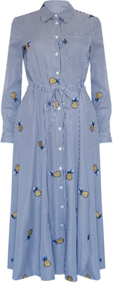 Jovonna London Blue Bryce1 Pineapple Print Dress - UK8 - Blue